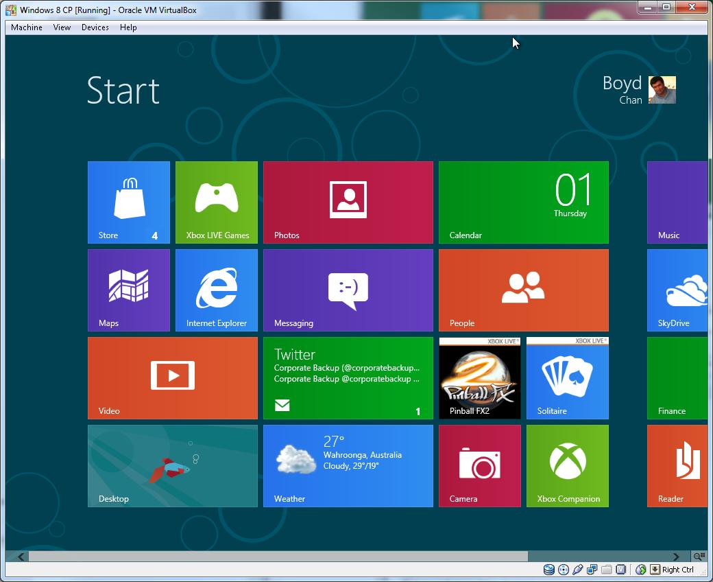 Windows 8 Comsumer Preview – Boydo's Tech Talk